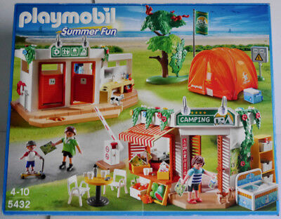 Playmobil Summer Fun 5432 Family Camping Playset Camp Site Tent Kiosk Wc *gr8*
