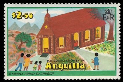 """ANGUILLA 330 (SG336) - Christmas Drawings """"Family going to Church"""" (pf19828)"""