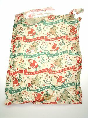 Vintage Original Christmas wrapping shop paper Henrys for Gifts
