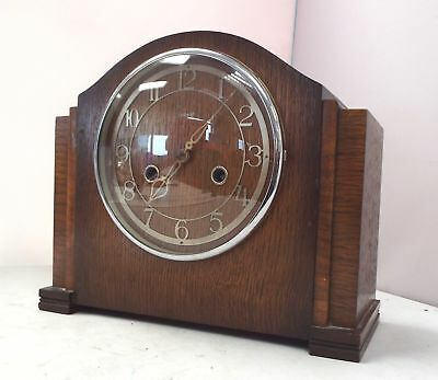 ENFIELD VINTAGE CLOCK/Chime Mantle Clock/ Retro/Pendulum/With Key/Untested - S09