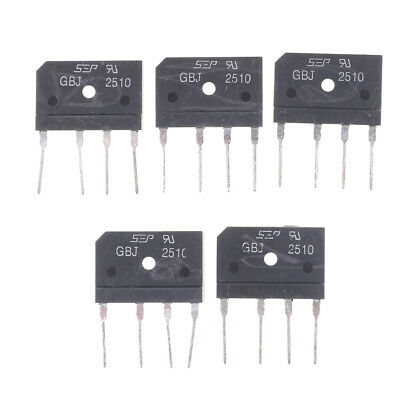 5Pcs GBJ2510 2510 25A 1000V Single Phases Diode Bridge Rectifiers TO