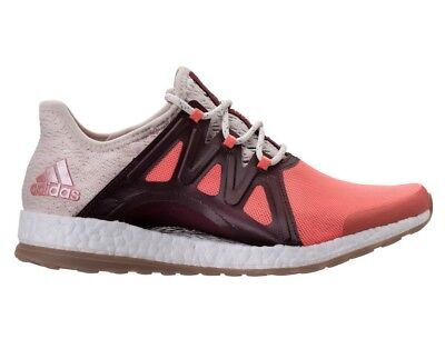 920389f28fa49 Adidas Pure Boost XPose Womens BB1739 Coral Linen Maroon Running Shoes Size  6.5