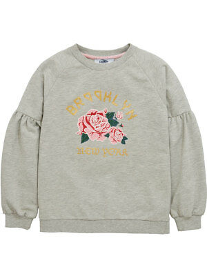 V by Very Volume Sleeve Sweat Top In Grey Size 12 Years
