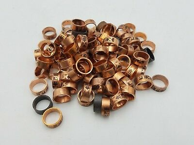 "100PC 1/2"" PEX Crimp Ring Copper Adapter Fitting Crimper Clamp Wire NOS 1/2 inch"