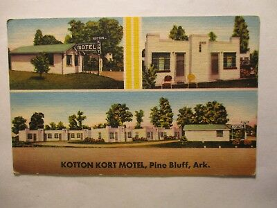 Old Postcard, PINE BLUFF, ARKANSAS, KOTTON KORT MOTEL