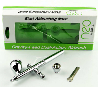 NEW Iwata Gravity Feed Dual Action Airbrush Set N 4500 IWAN4500