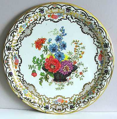 DAHER DECORATED WARE Multicolor Floral Basket Style Tray 10 ENGLAND #823 FREE SH