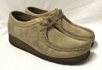 CLARKS ORIGINALS 'Wallabee' Ankle Boots 35395  Sz 8  Maple Suede Sand Leather
