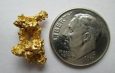 2.501 Gram Great Quality High Purity Natural Australian Gold Nugget, # CG 5002