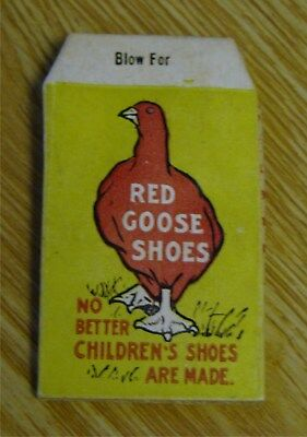 1917 Red Goose Shoes Whistle folded cardboard Advertising St. Louis MO