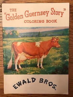 Golden Guernsey Story Coloring Book EWALD BROS Dairy Minnesota Advertising COWS