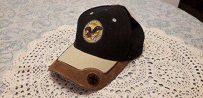 NWT  Scout Stuff  Boyscout EAGLE SCOUT Leather & Canvas Hat  NEW  OSFA