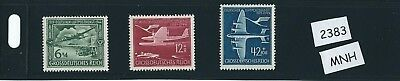 MNH stamp set / 1944 Nazi / 25th Anniversary Airmail / Third Reich / Airplanes
