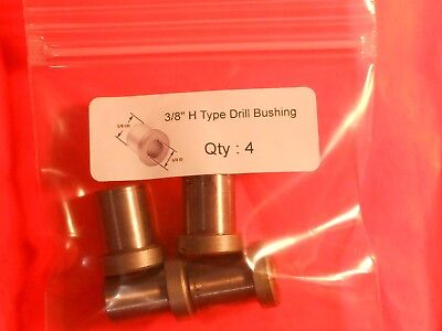 "( Lot of 4 )  3/8"" Drill Bushing, Type H Precision Drill Jig (Great Value)"