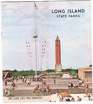Vintage Brochure Long Island State Parks with Map