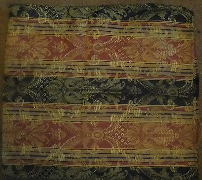 Vintage Rose Blue and Gold Brocade Fabric 2 Yds 31 Inches 49 Inches Wide