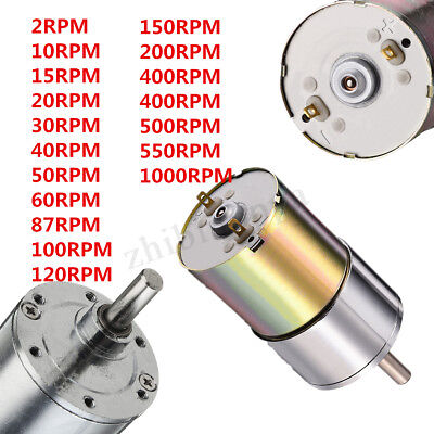 12V DC 2RPM-1000RPM Powerful High Torque Electric Gear Box Motor Speed