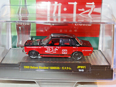 M2 1:64 Coca-Cola Auto-Japan 1969 Datsun Bluebird 1600Sss Hobby Exclusive #18-53