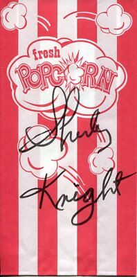 Shirley Knight Sweet Bird of Youth Oscar Nominee Signed Autograph Popcorn Bag