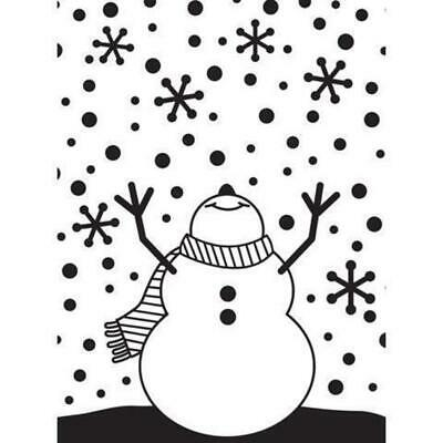 DARICE Embossing Folder Snowman Arms Up 10.5cm x 14.5cm