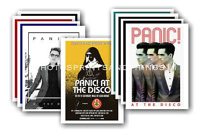 PANIC AT THE DISCO  - 10 promotional posters  collectable postcard set # 3