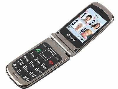 Olympia Style plus Black Seniors Comfort Cell Phone Phone with Large Buttons