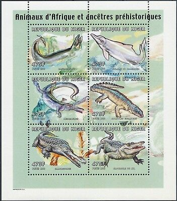 [H15073] Niger 2000 Wild animals - Prehistoric fauna Good sheet very fine MNH