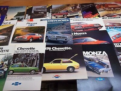 Chevy Cars & Trucks literature lot of 24 from 1970's & 1980's