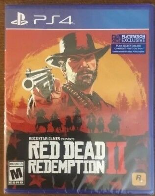 NEW Red Dead Redemption 2 SONY PlayStation 4 Game Factory Sealed