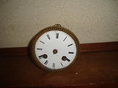 Ancien Mouvement Pendule De Paris Orologio Old Clock Uhr