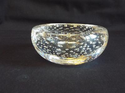 Whitefriars controlled bubbles glass dish.