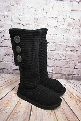 e05dec3c508 WOMENS UGG AUSTRALIA Black Cardy Pull On Knitted Boots Size UK 4.5 EUR 37  US 6