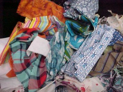 Vintage Scrap Bag Mixed LOT ALL Cotton & Feedsack Fabric Scrap Crafts Sewing 40s