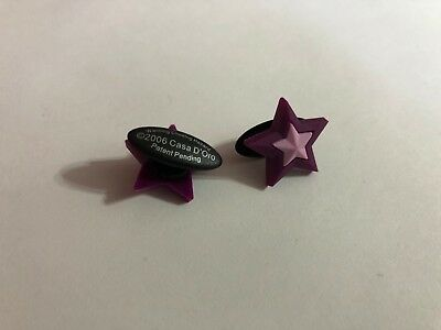 Purple Star Shoe-Doodle Purple Star Shoe Charm for Crocs Shoe Charms PSC001P