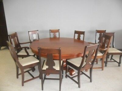 J.K. Rishel Furniture Co. Dining Table & 10 Chairs