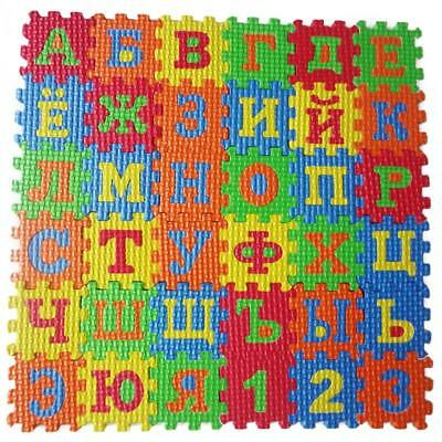 Alphabet Letters Numbers Puzzle  Kids Toy Pad Baby Home Play Mat W