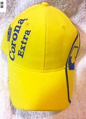 Corona Extra Hat 100% Cotton. Adjustable Back Beer  New Yellow Rare Vintage