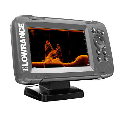 "Expedited Delivery! Lowrance HOOK2 5x 5"" GPS SplitShot Fishfinder with Track Plo"