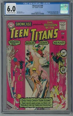 Showcase #59 CGC 6.0 (OW-W) 3rd appearance of the Teen Titans.