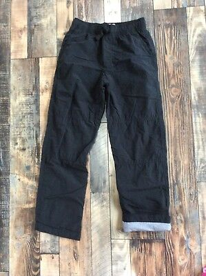 GYMBOREE BOYS PULL ON Active Jersey Lined Black PANTS Nwt Size 10