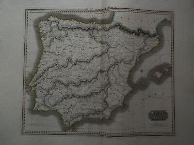 Map Ancient Spain. D'anville.thomson Edinburgh Classical & Historical Atlas 1820