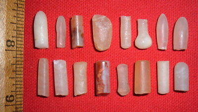 (16) Damaged Sahara Neolithic Plugs/Labrets, Prehistoric African Artifacts