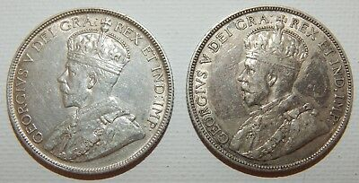 1912 & 1918 - Canada - 50 Cents - George V - Lot Of 2 - Nice  ----  #619Z