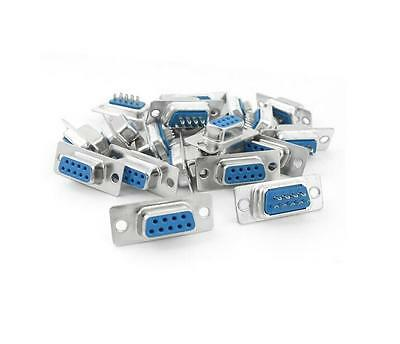 10Pcs D-SUB 9 Pin DB9 Female Solder Type Socket Connector Useful TO