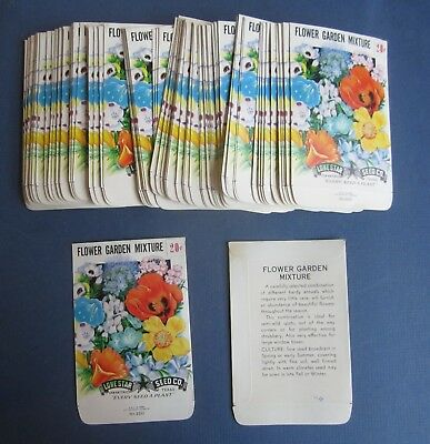 Wholesale Lot of 100 Old Vintage - FLOWER GARDEN Mixture - SEED PACKETS  EMPTY