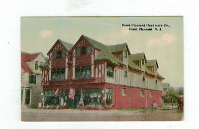 NJ Point Pleasant New Jersey antique post card Point Pleasant Hardware Co.