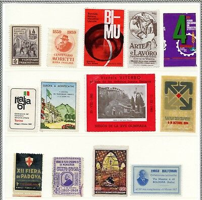 Italy Spain Poster Stamp Lot Collection of 13