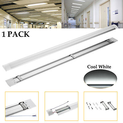 4FT 40W LED Linear Batten Tube Light Surface Mounted Lamp Fixtures Cool White US