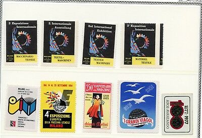 Italy Poster Cinderella Stamp Lot Collection