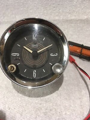 Smiths Car Clock. Upgraded to a Quartz Movement with an AA Battery On Lead.